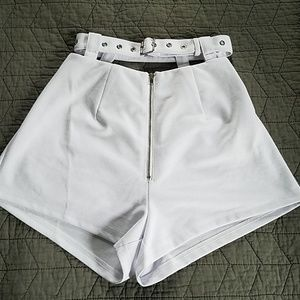 LF white shorts with belt
